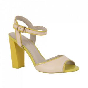 Sandale din piele naturală cod 271-312 Yellow