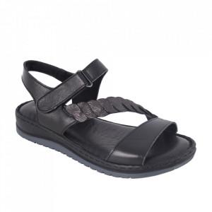 Sandale din piele naturală cod 602 Black