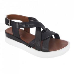 Sandale din piele naturală cod 722 Black