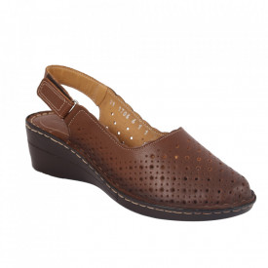 Sandale din piele naturală pentru dame cod 170651 Maro