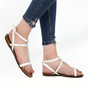Sandale pentru dame cod 1011 White