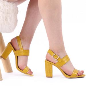 Sandale pentru dame cod 12015 Yellow