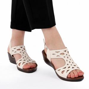 Sandale pentru dame cod 517316 Albe