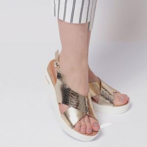 Sandale pentru dame cod AG-042-Gold