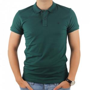 Tricou pentru bărbați cod 4002 Verde Închis