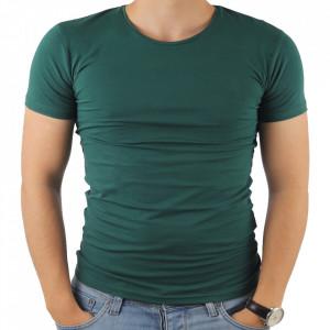 Tricou pentru bărbați cod 4101 Verde Închis
