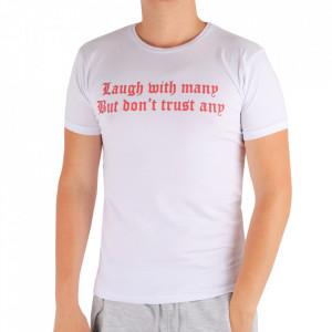 Tricou pentru bărbați Cod LG89 White