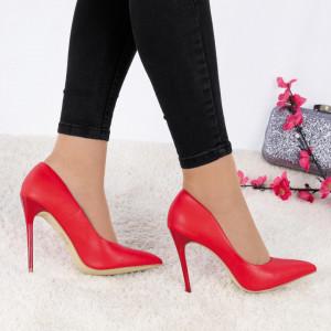 Pantofi cu toc cod EK0015 Roși