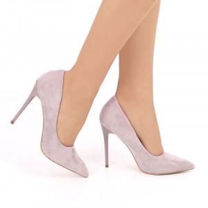 Pantofi cu toc cod EK0033 Purple