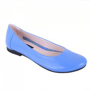 Balerini din piele naturală cod 96 Bleu
