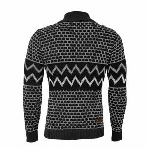 Bluză Colin Dark - Bluza este cel mai versatil articol vestimentar din sezonul rece, o piesă cu reputaţie a stilului casual având compoziţia 50% lână 50% acrilic - Deppo.ro