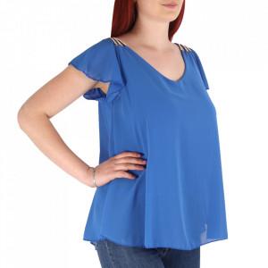 Bluză pentru dame cod BZ70 Albastră - Bluză pentru dame Conferă o ținută lejeră de vară - Deppo.ro
