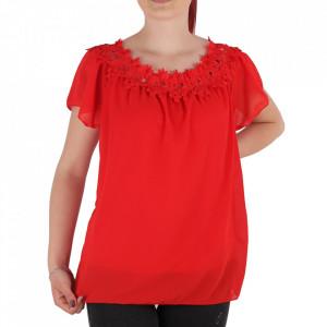 Bluză pentru dame tip cămășuță cod BZP1 Red