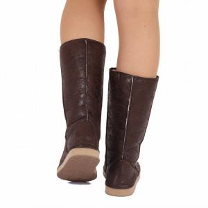 Cizme Loren Brown - Cizme tip UG din piele ecologică cu interior îmblănit ideale pentru sezonul rece - Deppo.ro