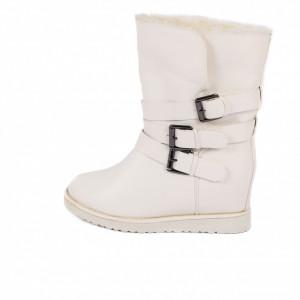 Cizme Marisol White - Cizme tip UG din piele ecologică cu interior îmblănit, foarte călduroase ideale pentru sezonul rece - Deppo.ro