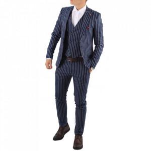 Costum slim fit 008 Albastru