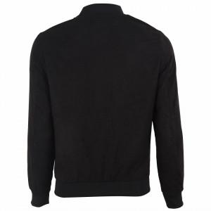Geacă din piele ecologică pentru bărbați cod P1810 Neagră - Geacă din piele ecologică pentru bărbați model primăvară-toamnă pe negru - Deppo.ro