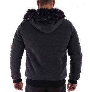 Geacă Scott Grey - Geacă scurtă sport de iarnă pentru bărbaţi, prevăzută cu glugă, în partea din faţă jacheta este prevăzută cu un fermoar lung şi rezistent - Deppo.ro