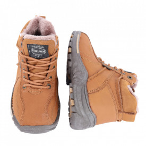 Ghete pentru copii cod WD9002 Brown - Ghete din piele naturală, stil casual. - Deppo.ro