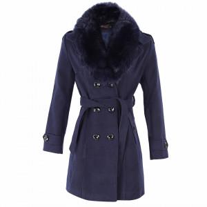 Palton Marisal Bleumarin