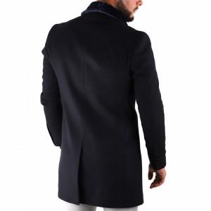 Palton Ramos Bleumarin - Palton bleumarin cu guler rever, închidere la un singur rând de nasturi, captuşeală satinată, doua buzunare laterale inserate, buzunar cu fermoar pe partea stângă. Compoziţie 80% lână, 20% poliester - Deppo.ro
