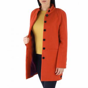 Palton Riosa Orange - Palton elegant cu închidere cu nasturi, căptușit pe interior. Îmbracă-l la rochii sau ținute office și asortează-l cu o pereche de mănuși din piele pentru un plus de eleganță. - Deppo.ro
