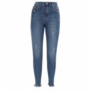 Pantaloni de blugi pentru dame cod BLG402 Albastri