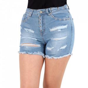Pantaloni scurți pentru dame cod DENIM03 Blue