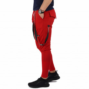 Pantaloni sport-casual pentru bărbați cod PSP6977 Roși