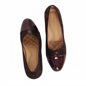 Pantofi Adivia Bordo - Pantofi din din piele ecologică, cu tălpic moale de cea mai bună calitate, toc foarte confortabili cu un calapod comod - Deppo.ro