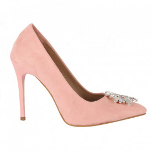 Pantofi cu toc cod 5596 Pink