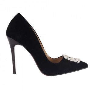 Pantofi cu toc cod 5600 Black
