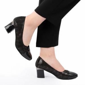 Pantofi cu toc cod 90053 Negri