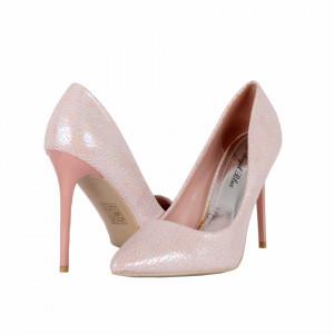 Pantofi cu toc cod 982732 Roz