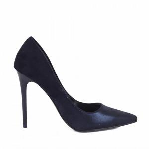 Pantofi cu toc cod 982735 Navy - Pantofi cu vârf ascuţit şi toc subţire din piele ecologică, foarte confortabili cu un calapod comod - Deppo.ro