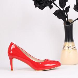Pantofi cu toc cod AB2 Roși - Pantofi cu toc din piele ecologică cu un design unic, fii în pas cu moda şi străluceşte la următoarea petrecere. - Deppo.ro