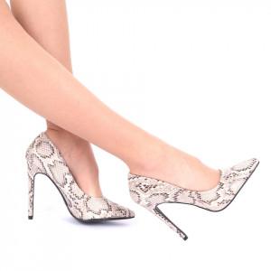Pantofi cu toc cod AN22 Gri