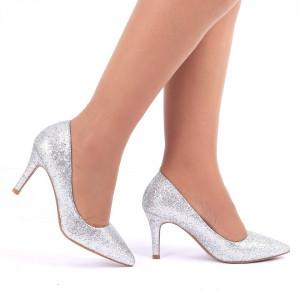 Pantofi cu toc cod C57 Arginti