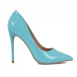 Pantofi cu toc cod EK0097 Blue