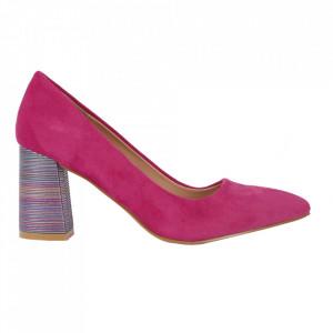 Pantofi cu toc cod OD0204 Fuchsia