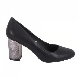 Pantofi cu toc din piele ecologică cod C-99 Black
