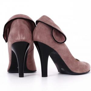 Pantofi Cu Toc din piele naturală Haven Purple - Pantofi din piele naturală întoarsă cu toc subțire și vârf ascuțit - Deppo.ro