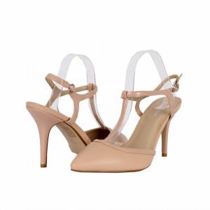 Pantofi Cu Toc Only Beige