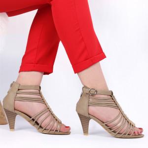 Pantofi cu toc pentru dame cod B563 Bej