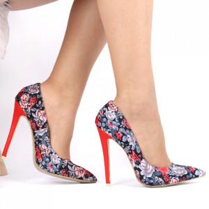 Pantofi cu toc pentru dame cod HR12 Red