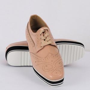 Pantofi din piele ecologică Cod 0-167 Nude Pink - Pantofii îți transformă limbajul corpului și atitudinea. Te înalță fizic și psihic! Pantofi pentru dame din piele ecologică lăcuită - Deppo.ro