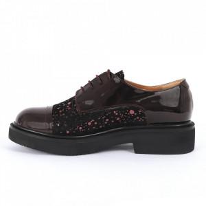 Pantofi din piele naturală bordo Cod 482 - Pantofi damă din piele naturală, foarte confortabili cu un tălpic special care conferă lejeritate chiar și în cazurile în care petreci mult timp stând în picioare. - Deppo.ro