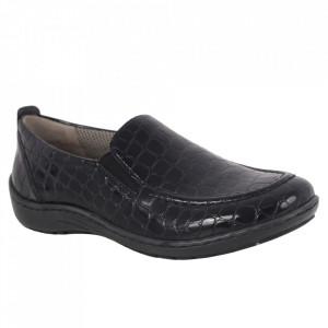 Pantofi din piele naturală cod 01H Black