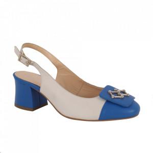 Pantofi din piele naturală cod 11-T Blue