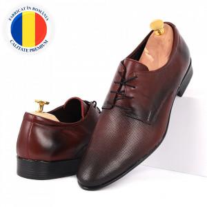 Pantofi din piele naturală cod 110S Bordo